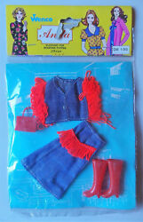 Vintage Anita Clothes 70er Years Doll Outfit Jeans Fashion 11 3 8in $20.47