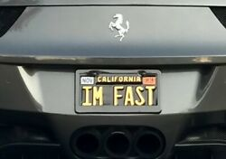California License Plate with 2014 Ferrari 458 spider