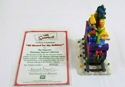 Simpsons Christmas Express Train Hamilton Collection All Aboard For The Holidays