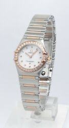 MINT ROSE GOLD DIAMOND OMEGA CONSTELLATION MY CHOICE BOX & PAPERS 2 YR WARRANTY