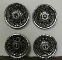 Oem Set 14 Wire Type Hub Cap Wheel Covers 01260015 1978-79 Buick Regal W186