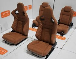 Tan Leather 4 Seat Interior Front + Rear Seats Fit Land Rover Defender 90 Tdci