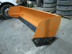 10and039 Snow Pusher With Steel Trippable Cutting Edge Loader Backhoe Skid Steer New