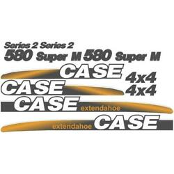 Whole Decal Set Series 2 And 4 X 4 Fits Case 580 Super M Extendahoe Backhoe Loader