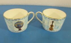 Lot Of 2 Wedgwood Millennium 1997 Bone China 4 Tea Cups Made In England