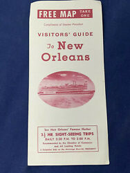 Vintage New Orleans Visitors Guide With Map Louisiana - Vintage Souvenir Old