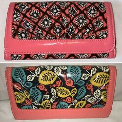VERA BRADLEY Front Row Wallet - Multiple Patterns Available - 'Frill Collection'