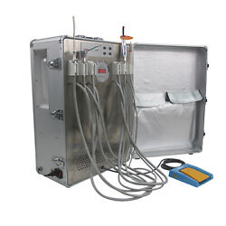Portable Dental Unit Self-contained Dentist Delivery Unit +curing Light +scaler