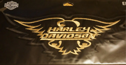 Harley Davidson Golden Eagle Patches  Large And Small
