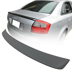02-05 Fit For Audi A4 B6 A Type 4dr Rear Boot Trunk Spoiler Wing Unpainted