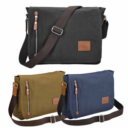 Men#x27;s Canvas Crossbody Hiking Messenger Sling Shoulder Bag Satchel School Tote $23.90
