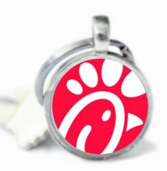 Chick Fil A Keychain Chick Fil A Employee Worker Gift Keyring Key Chain Silver