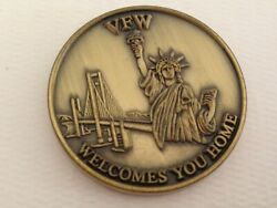 Veterans Of Foreign War Vfw Welcomes You Home We Will Not Forget Challenge Coin