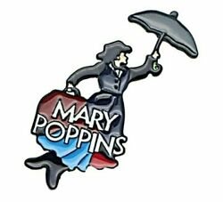 Mary Poppins With Umbrella Themed Enamel Metal Pin