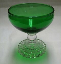 Anchor Hocking Forest Green Bubble Depression Glass Sherbet