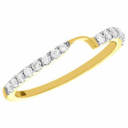 14k Yellow Gold Two Stone Love And Friendship Diamond Ring Engagement Band 1/4 Ct.