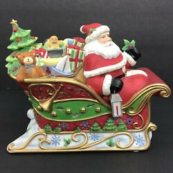 Cute Partylite Santa's Sleigh Ride Tea Light Candle Holder Party Lite