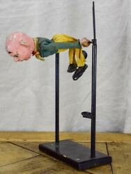 Antique French Puppet - Acrobat - In Working Condition
