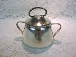 Benedict Mfg Co. Silverplate 2 Handled Cup Or Pot W/ Lid - 640 Benedict Plate