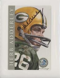 1998 Nfl Hall Of Fame Signature Series /2500 Herb Adderly Auto Hof