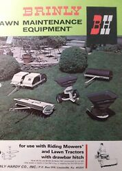 Brinly Pull-type Hitch Implement Riding Mower Lawn Tractor Sales Brochure Manual