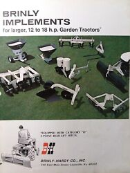 Brinly Cat 0 3-pnt Hitch Implements 14 18hp Garden Tractor Sales Brochure Manual