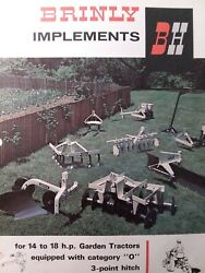 Brinly Cat0 3-point Hitch Implements 14-18 Garden Tractor Sales Brochure Manual