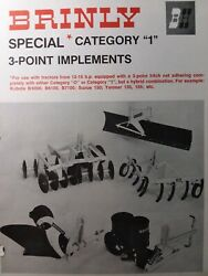 Brinly Cat 1 3-point Hitch Implements 14-16 H.p Tractor Sales Brochure Manual