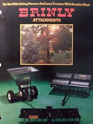 Brinly Drawbar Hitch Implement Riding Mower Lawn Tractor Sales Brochure Manual