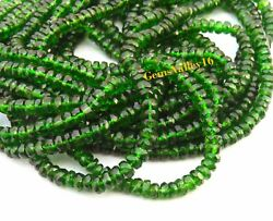 Natural Chrome Diopside Faceted Beads 3.5- 5 Mm. Rondelle Shape Gemstone Gv-515