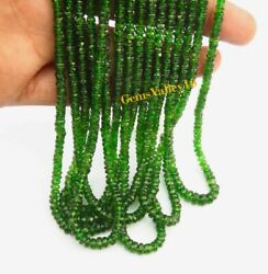 Natural Chrome Diopside Faceted Rondelle Shape Beads 3.25- 5 Mm. Gemstone Gv-516