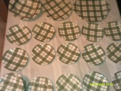 Old Green Checker Pattern Plaid Like Saucers Bowl Platter Plate Some Royal China