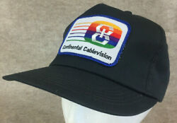Vtg Continental Cablevision Snapback Patch Hat Todd