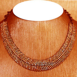 Vintage 15.81cts Natural Rose Cut Diamond Silver Bridal Feather Necklace Jewelry