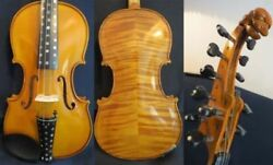 Hand Made Flames 510 Strings Carving Scroll Violin 4/4 Rich Sweet Sound