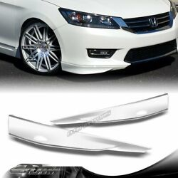For 2013-2015 Honda Accord 4dr Hfp-style Painted White Front Bumper Splitter Lip