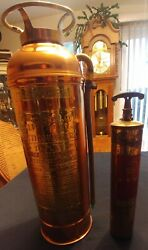 2 - Vintage Fire Extinguishers - Quick Aid / The Buffalo Fire Extig..empty