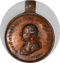 P2896 Very Scarce Unlisted Medal L Philippe Jos Dand039orleans Ami Peuple 1789 Sup