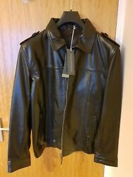 New Rocha John Rocha Authentic Brown Leather Jacket Large 42 Rrp Andpound199 Free Pandp