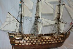 Wooden Model Ship - Hms Victoria - Hand Crafted 46 X 37 300 Hrs