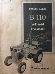 Allis Chalmers B-110 Lawn Riding Garden Tractor Owners Manual Simplicity Briggs