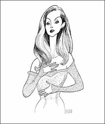 Al Hirschfeld's Celine Dion Hand Signed Limited Edition Lithograph