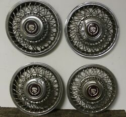Oem 14 Wire Type Hub Cap Wheel Covers 1633880 1986-88 Cadillac Deville W225