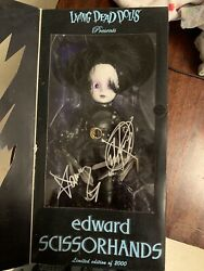 Living Dead Dolls-edward Scissorhands 2005 Sdcc Exclusive Signed By Ed And Damien