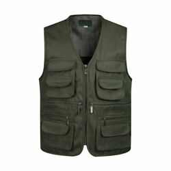 Waistcoats Sleeveless Tactical Menand039s Vest Unloading Solid Cottons Pockets Decors