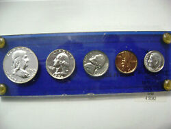 1956 Proof Silver Set With Jefferson Nickel Doubled Die Reverse Ddr Variety