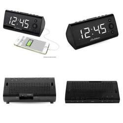 Electrohome Alarm Clock Radio with USB Charging for Smartphones Tablets Includ