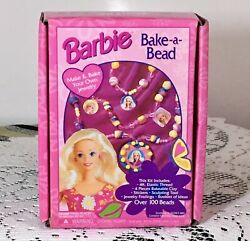 Barbie Vintage 1995 Bake-a-bead Make And Bake Your Own Jewelry + Bonus