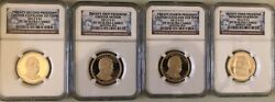 2012-s Presidential Dollar 4 Coin Proof Set Ngc Pf70 Ultra Cameo