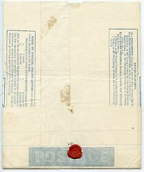 Rare 1840 2d Mulready Wrapper From Lochalsh To Glasgow With Red Mc.